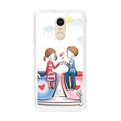 Funda Gel Tpu para Xiaomi Redmi Note 4  / Note 4 Pro Diseño Cafe Dibujos