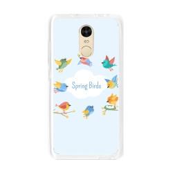 Funda Gel Tpu para Xiaomi Redmi Note 4 / Note 4 Pro Diseño Spring Birds Dibujos