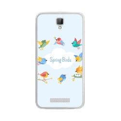Funda Gel Tpu para Zte Blade L5 / L5 Plus Diseño Spring Birds Dibujos