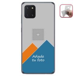 Personaliza tu Funda Gel Mate con tu Fotografia para Samsung Galaxy Note 10 Lite dibujo personalizada