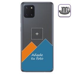 Personaliza tu Funda Gel 100% Transparente con tu Fotografia para Samsung Galaxy Note 10 Lite dibujo personalizada