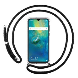Funda Colgante Transparente para Huawei Mate 20 con Cordon Negro