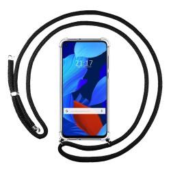 Funda Colgante Transparente para Huawei Nova 5T / Honor 20 con Cordon Negro