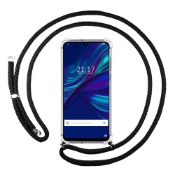 Funda Colgante Transparente para Huawei P Smart 2019 / Honor 10 Lite con Cordon Negro