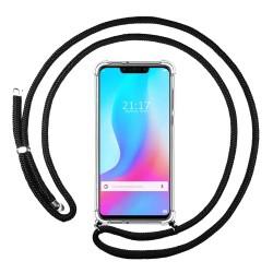 Funda Colgante Transparente para Huawei P Smart Plus con Cordon Negro
