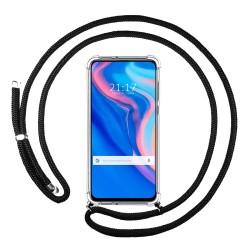 Funda Colgante Transparente para Huawei P Smart Z con Cordon Negro