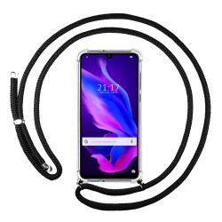 Funda Colgante Transparente para Huawei P30 Lite con Cordon Negro