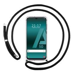 Funda Colgante Transparente para Samsung Galaxy A50 / A50 / A30s con Cordon Negro