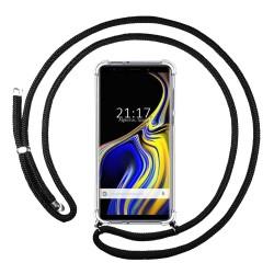 Funda Colgante Transparente para Samsung Galaxy Note 9 con Cordon Negro