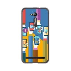 "Funda Gel Tpu para Asus Zenfone Go 5"" (Zb500Kl) Diseño Apps Dibujos"