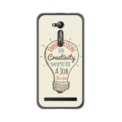 "Funda Gel Tpu para Asus Zenfone Go 5"" (Zb500Kl) Diseño Creativity Dibujos"
