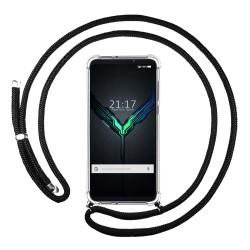 Funda Colgante Transparente para Xiaomi Black Shark 2 con Cordon Negro