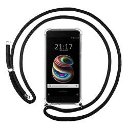 Funda Colgante Transparente para Xiaomi Mi 5X / Mi A1 con Cordon Negro