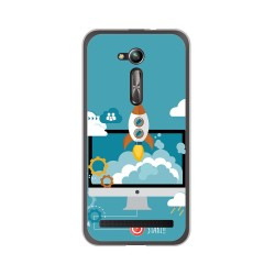 "Funda Gel Tpu para Asus Zenfone Go 5"" (Zb500Kl) Diseño Cohete Dibujos"