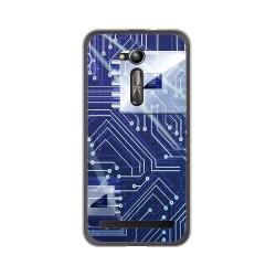 """Funda Gel Tpu para Asus Zenfone Go 5"""" (Zb500Kl) Diseño Circuito Dibujos"""