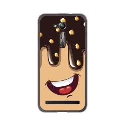 "Funda Gel Tpu para Asus Zenfone Go 5"" (Zb500Kl) Diseño Helado Chocolate Dibujos"