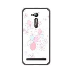 "Funda Gel Tpu para Asus Zenfone Go 5"" (Zb500Kl) Diseño Flores Minimal Dibujos"