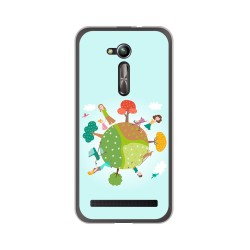 "Funda Gel Tpu para Asus Zenfone Go 5"" (Zb500Kl) Diseño Familia Dibujos"