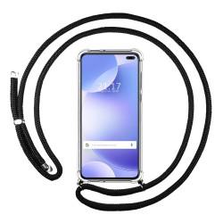 Funda Colgante Transparente para Xiaomi Pocophone POCO X2 con Cordon Negro
