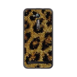 "Funda Gel Tpu para Asus Zenfone Go 5"" (Zb500Kl) Diseño Leopardo Dibujos"