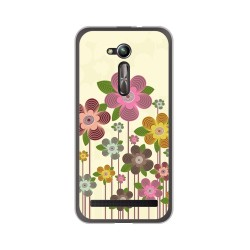 "Funda Gel Tpu para Asus Zenfone Go 5"" (Zb500Kl) Diseño Primavera En Flor Dibujos"
