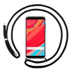 Funda Colgante Transparente para Xiaomi Redmi S2 con Cordon Negro