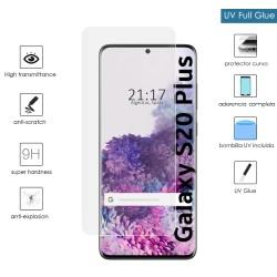 Protector Cristal Templado Completo Curvo UV Full Glue para Samsung Galaxy S20+ Plus