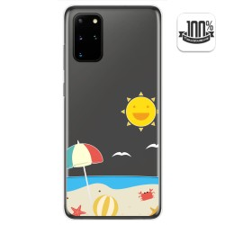 Funda Gel Transparente para Samsung Galaxy S20+ Plus diseño Playa Dibujos