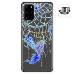 Funda Gel Transparente para Samsung Galaxy S20+ Plus diseño Plumas Dibujos