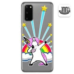Funda Gel Transparente para Samsung Galaxy S20 diseño Unicornio Dibujos