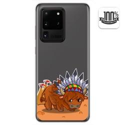 Funda Gel Transparente para Samsung Galaxy S20 Ultra diseño Bufalo Dibujos