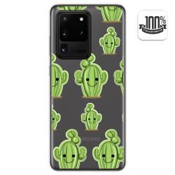 Funda Gel Transparente para Samsung Galaxy S20 Ultra diseño Cactus Dibujos
