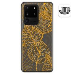 Funda Gel Transparente para Samsung Galaxy S20 Ultra diseño Hojas Dibujos