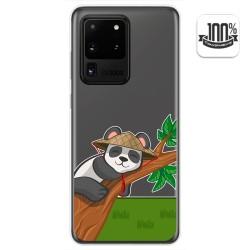 Funda Gel Transparente para Samsung Galaxy S20 Ultra diseño Panda Dibujos
