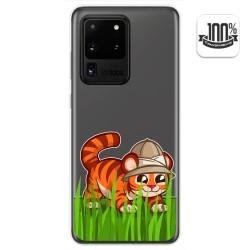 Funda Gel Transparente para Samsung Galaxy S20 Ultra diseño Tigre Dibujos