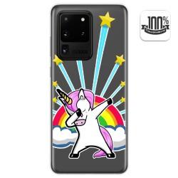 Funda Gel Transparente para Samsung Galaxy S20 Ultra diseño Unicornio Dibujos