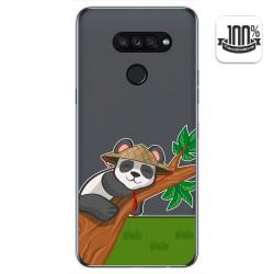 Funda Gel Transparente para Lg K50S diseño Panda Dibujos