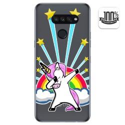 Funda Gel Transparente para Lg K50S diseño Unicornio Dibujos