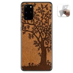 Funda Gel Tpu para Samsung Galaxy S20+ Plus diseño Cuero 03 Dibujos