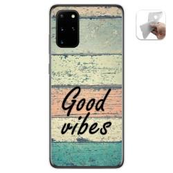 Funda Gel Tpu para Samsung Galaxy S20+ Plus diseño Madera 01 Dibujos
