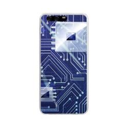 Funda Gel Tpu para Huawei P10 Plus Diseño Circuito Dibujos