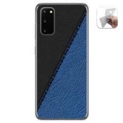 Funda Gel Tpu para Samsung Galaxy S20 diseño Cuero 02 Dibujos