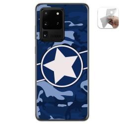 Funda Gel Tpu para Samsung Galaxy S20 Ultra diseño Camuflaje 03 Dibujos