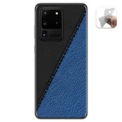 Funda Gel Tpu para Samsung Galaxy S20 Ultra diseño Cuero 02 Dibujos