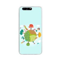 Funda Gel Tpu para Huawei P10 Plus Diseño Familia Dibujos