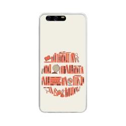 Funda Gel Tpu para Huawei P10 Plus Diseño Mundo Libro Dibujos