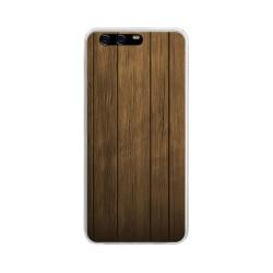 Funda Gel Tpu para Huawei P10 Plus Diseño Madera Dibujos
