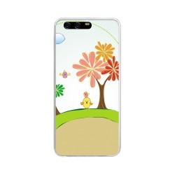 Funda Gel Tpu para Huawei P10 Plus Diseño Primavera Dibujos