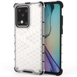 Funda Tipo Honeycomb Armor (Pc+Tpu) Transparente para Samsung Galaxy S20 Ultra
