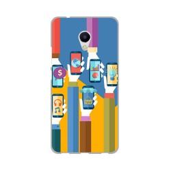 Funda Gel Tpu para Meizu M5S Diseño Apps Dibujos
